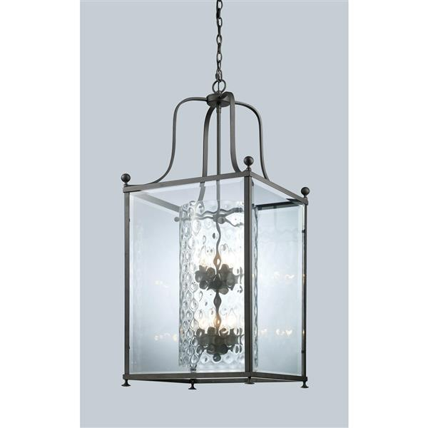 Z-Lite Fairview 8-Light Pendant - 18.5-in - Glass - Bronze