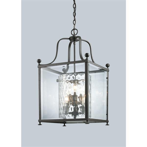 Z-Lite Fairview 6-Light Pendant - 15.5-in - Glass - Bronze