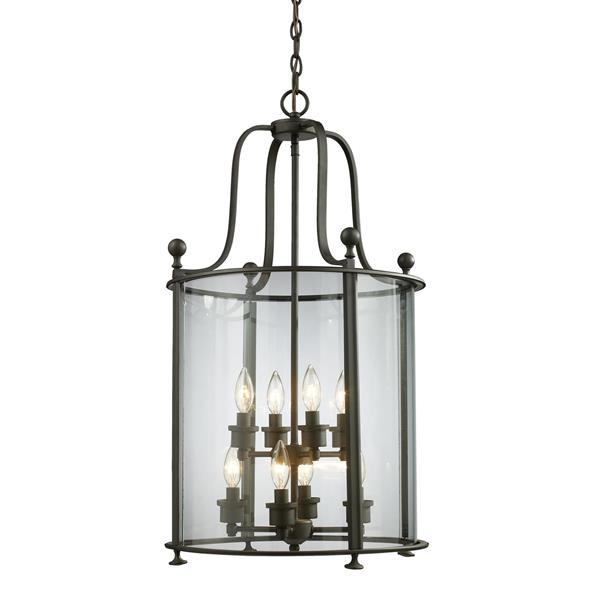 Z-Lite Wyndham 8-Light Pendant - 18-in - Glass - Bronze