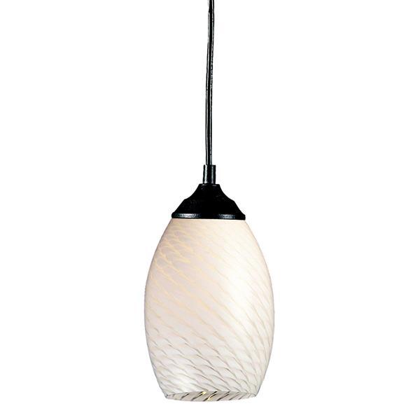 Z-Lite Jazz 1-Light Pendant - 5-in - Glass - White