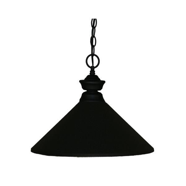 Z-Lite 1-Light Pendant - 14-in - Metal - Black