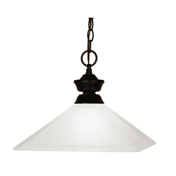 Z-Lite Flatwater 1-Light Pendant - 13-in - Glass - Bronze