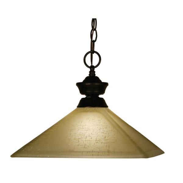 Z-Lite 1-Light Pendant - 13-in - Glass - Bronze