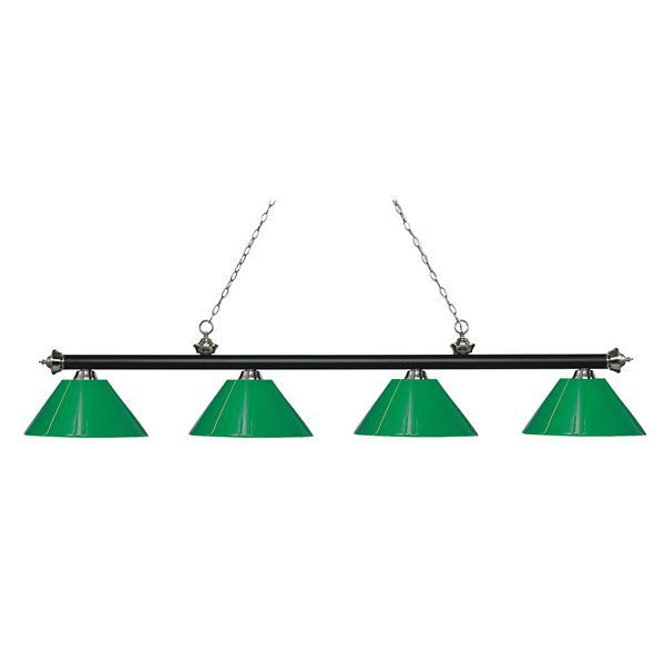 Z-Lite Riviera 4-Light Billard Light - 80.5-in - Green