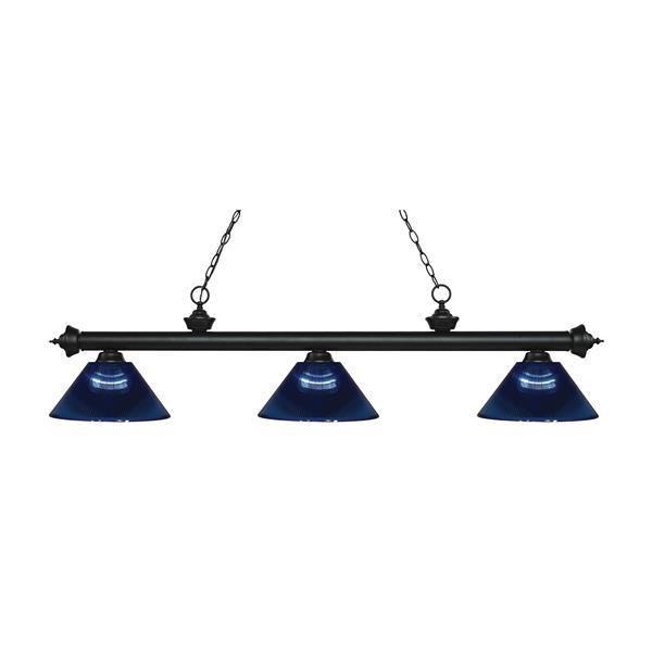 Z-Lite Riviera 3-Light Billard Light - 57.5-in - Dark Blue