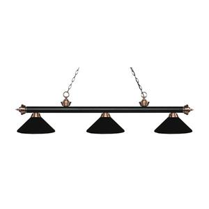 Z-Lite Riviera 3-Light Billard Light - 57.25-in - Black