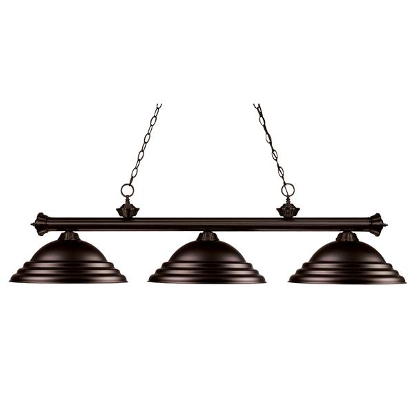 Z-Lite Riviera 3-Light Billard Light - 59-in - Bronze
