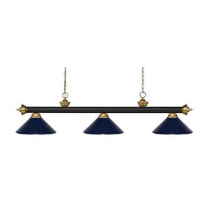 Z-Lite Riviera 3-Light Billard Light - 57-in - Navy Blue