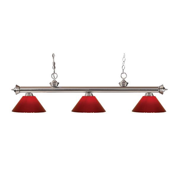 Z-Lite Riviera 3-Light Billard Light - 57-in - Red