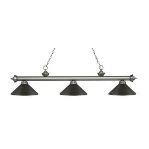 "Luminaire de billard Riviera, 3 lumières, 57,25"", bronze"