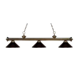 "Luminaire de billard Riviera, 3 lumières, 57"", bronze"