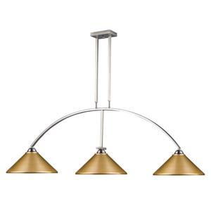 """Luminaire de billard Martini, 3 lumières, 61"""", métal, or"""