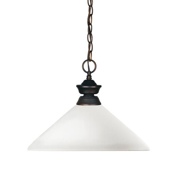 Z-Lite Shark 1-Light Pendant - 13.75-in - Glass - White