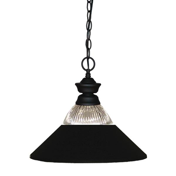 Z-Lite Shark 1-Light Pendant - 14.25-in - Metal - Black