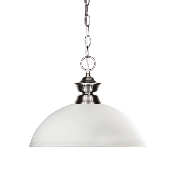 Z-Lite Shark 1-Light Pendant - 13.5-in - Glass - White
