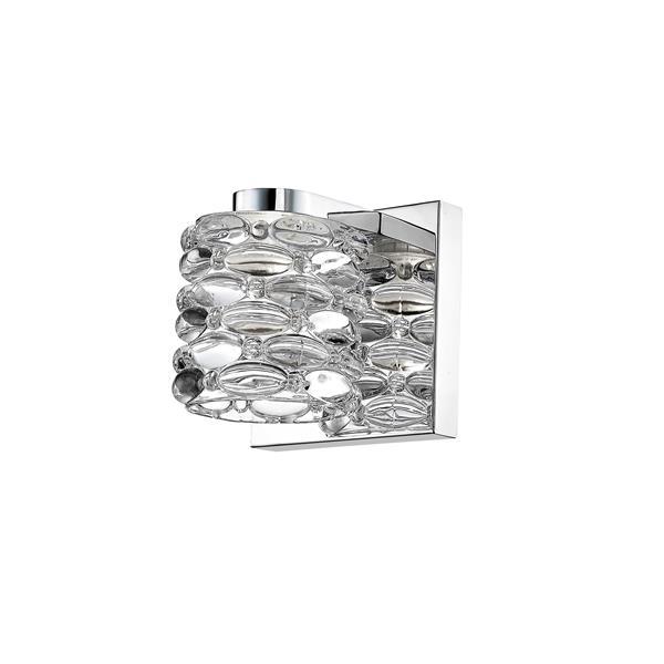 Z-Lite Dawson 1-Light Wall Sconce - 4.72-in - Steel - Chrome