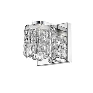 Z-Lite Tempest 1-Light Wall Sconce - 4.72-in - Steel - Chrome