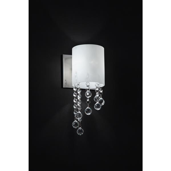 Z-Lite Jewel 1-Light Wall Sconce - 11-in - Steel - Chrome