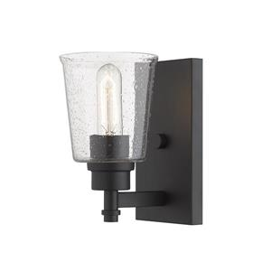 Z-Lite Bohin 1-Light Wall Sconce - 8.5-in - Steel - Black