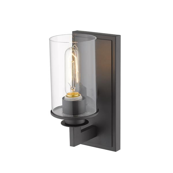 Z-Lite Savannah 1-Light Wall Sconce - 10.25-in - Steel - Bronze