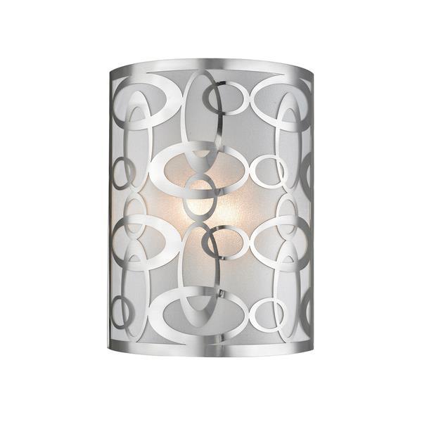 Z-Lite Opal 2-Light Wall Sconce - 12-in - Steel - Nickel