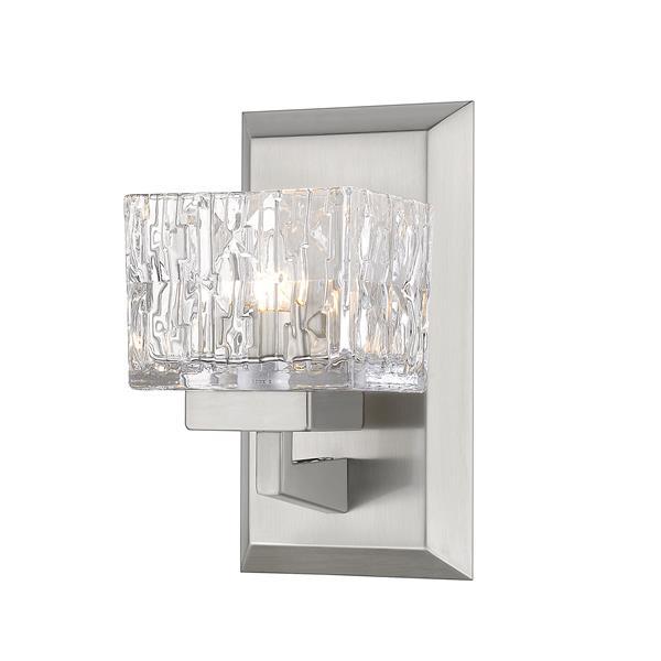 Z-Lite Rubicon 1-Light Wall Sconce - 8.75-in - Steel - Nickel