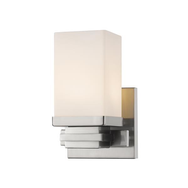 Z-Lite Avige 1-Light Wall Sconce - 7.7-in - Steel - Nickel