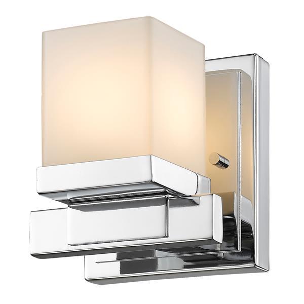 Z-Lite Cadiz 1-Light Wall Sconce - 4.9-in - Steel - Chrome