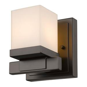 Z-Lite Cadiz 1-Light Wall Sconce - 4.9-in - Steel - Bronze