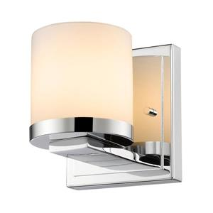 Z-Lite Nori 1-Light Wall Sconce - 4.9-in - Steel - Chrome