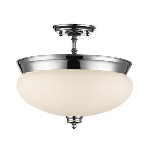 Z-Lite Amon 3-Light Semi-Flush Mount - 13.5-in - Chrome