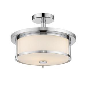 Z-Lite Savannah 2-Light Semi-Flush Mount - 9.75-in - Chrome