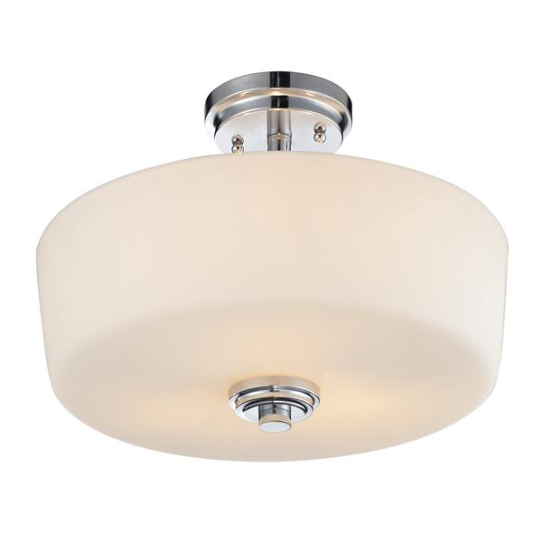 Z-Lite Lamina 3-Light Semi-Flush Mount - 10.75-in - Chrome