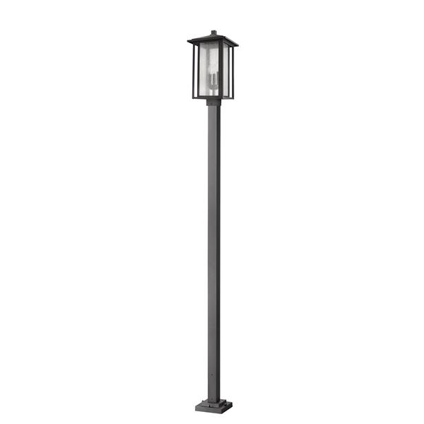 Z-Lite Aspen 3-light Post Light - 116.87-in - Steel - Black