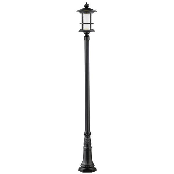 Z-Lite Genesis 1-light Post Light - 115.5-in - Aluminum - Black
