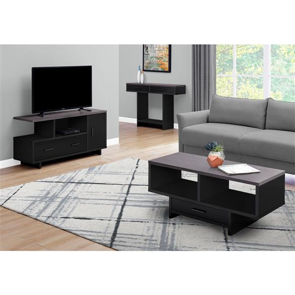 Monarch TV Stand with Storage - 47.25-in - Composite - Black