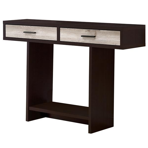 Monarch Accent Table - 47.25-in x 32-in - Composite - Cappuccino/Taupe