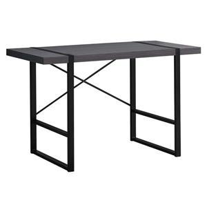 """Bureau d'ordinateur, 49"""" x 30"""", composite, gris/noir"""