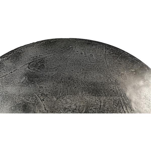 Notre Dame Design Hyde Outdoor Accent Table - 20-in- Aluminum - Bronze