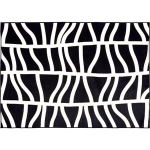 Notre Dame Design Hosta Outdoor Rug - 78.75-in- Polypropylene - Black/White
