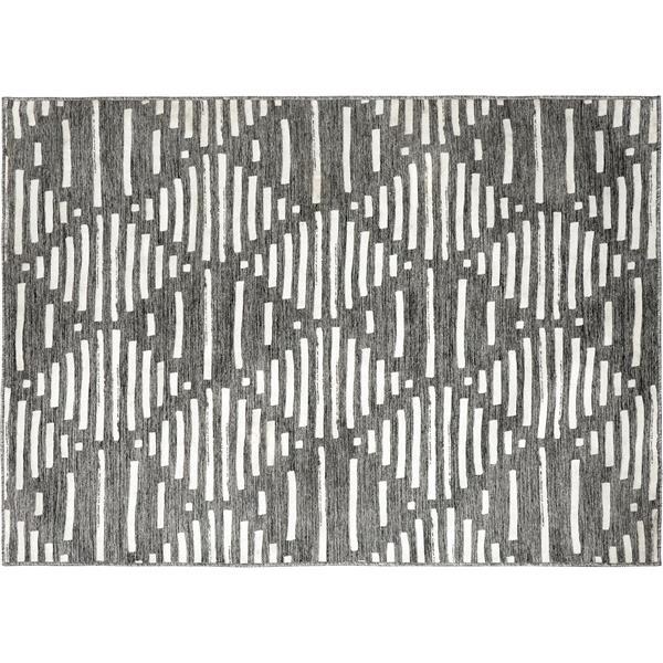 Notre Dame Design Tapis d'extérieur Gardenia, 78,75, polyester, gris/blanc ROGAR-99746-58