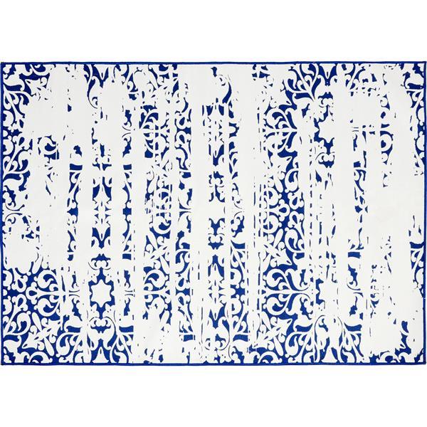 Notre Dame Design Maltese Outdoor Rug - 78.75-in- Polyester - White/Blue
