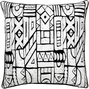 Notre Dame Design Brina Outdoor Pillow - 22-in- Polyester - White/Black