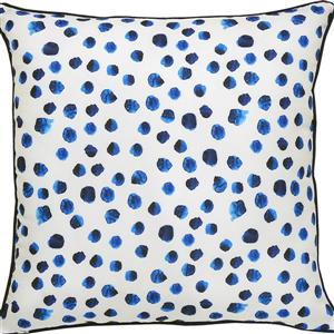 Notre Dame Design Lustra Polka Dot Outdoor Pillow - 22-in- Polyester - White
