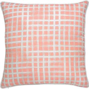 Notre Dame Design Morane Geometric Outdoor Pillow - 22-in- Polyester - Coral