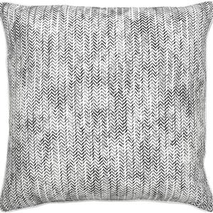 Notre Dame Design Halford Outdoor Pillow - 22-in- Polyester - White/Black