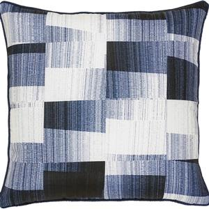 Notre Dame Design Miltone Outdoor Pillow - 22-in- Polyester - Navy Blue