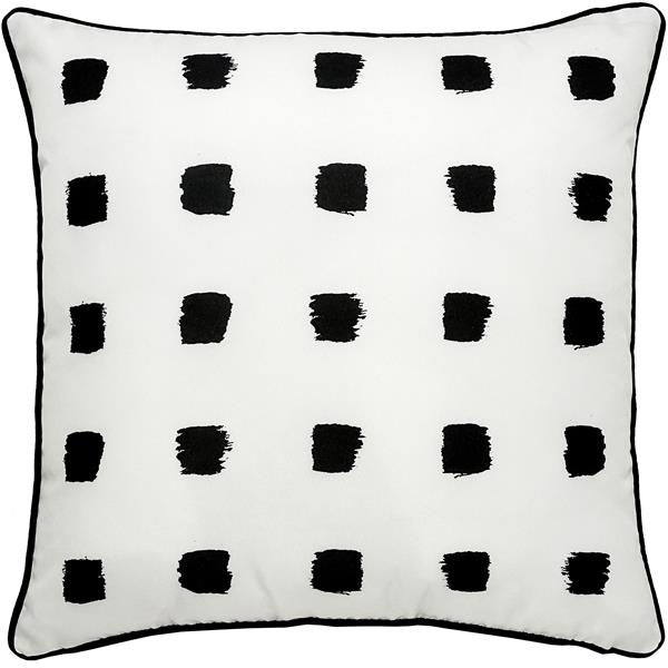 Notre Dame Design Rockhill Polka Dot Outdoor Pillow - 22-in- Polyester - White