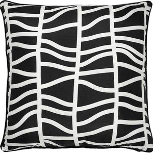 Notre Dame Design Fieldfare Chevron Outdoor Pillow - 22-in- Polyester - Black