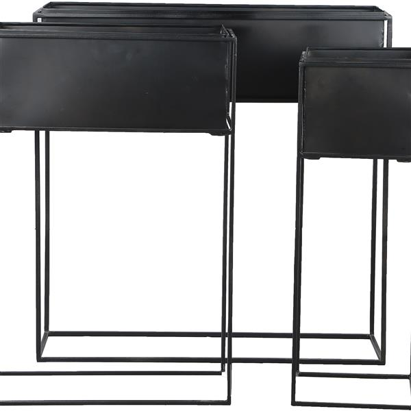 Notre Dame Design Bellamy Planters Box - 24-in x 24-in- Iron - Black - 3 pcs
